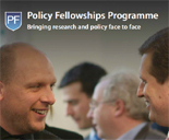The cover of the Policy Fellowship Proramme flyer